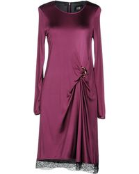 Class Roberto Cavalli Knee-length Dress - Purple