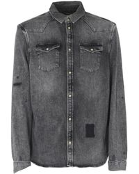 AllSaints - Denim Shirt - Lyst