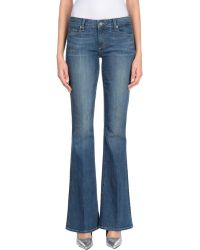 PAIGE - Denim Trousers - Lyst