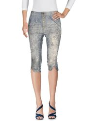 Manila Grace - Denim Capris - Lyst