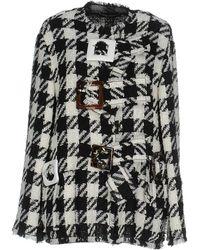 Dolce & Gabbana - Checked Boxy Coat - Lyst