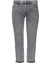 Pt05 Denim Pants - Gray