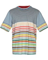 7c4290388 Burberry Prorsum Landmark-Print Cotton T-Shirt in Blue for Men - Lyst