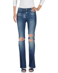 7 For All Mankind | Denim Trousers | Lyst