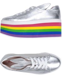 Lyst - Minna Parikka Sneakers In Pelle Dettaglio Nuvola 20mm in White c37c9139601
