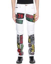 Philipp Plein Denim Pants - White