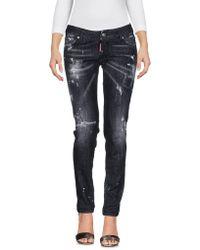 DSquared² - Jennifer Distressed Stonewash Jeans - Lyst