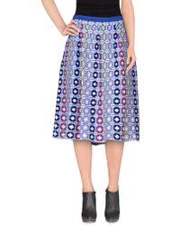 212 New York - 3/4 Length Skirt - Lyst