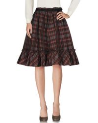 Moschino Jeans - Knee Length Skirt - Lyst