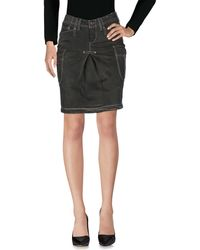 Jaggy - Knee Length Skirt - Lyst