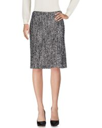 Kaufman Franco - Knee Length Skirt - Lyst