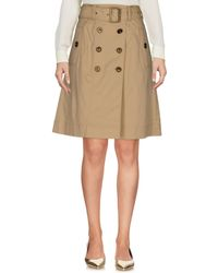 Burberry Brit - Knee Length Skirt - Lyst