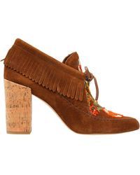 1d043d754a3 Tory Burch - Fringed Suede Ankle Boots Light Brown - Lyst