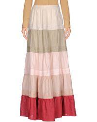 120% Lino - Long Skirt - Lyst