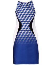 Antonio Berardi - Printed Silk-Crepe Dress  - Lyst