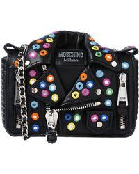 Moschino - Black Biker Jacket Shoulder Bag - Lyst