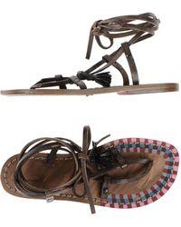 Exquisite J - Toe Strap Sandal - Lyst