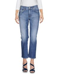Department 5 - Denim Capris - Lyst