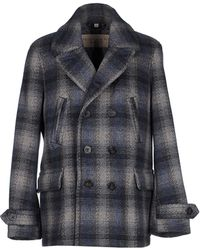 Burberry Brit - Check Woolblend Pea Coat - Lyst