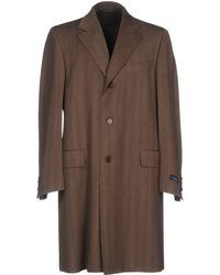 Canali - Overcoat - Lyst