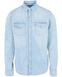 Calvin Klein - Denim Shirt - Lyst