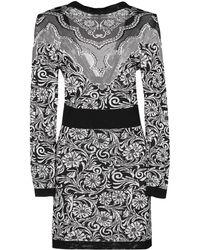 Balmain - Floral Motif Dress - Lyst