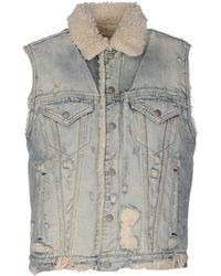 Denim & Supply Ralph Lauren - Faux-shearling lined Distressed Denim Vest  - Lyst