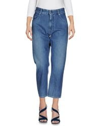 MM6 by Maison Martin Margiela - Denim Trousers - Lyst