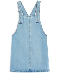TOPSHOP - Overall Skirt - Lyst