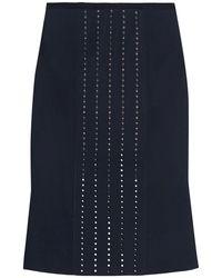 Dion Lee - Fluted Swarovski Crystal-embellished Scuba Skirt - Lyst