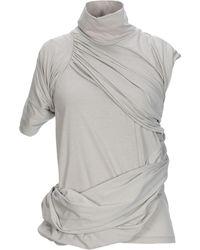 daee8945ea8922 Lyst - Rick Owens Lilies T-shirt in Metallic