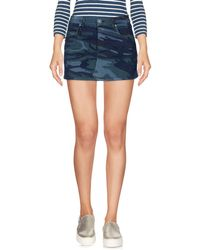 Twenty Easy By Kaos - Denim Skirt - Lyst