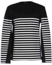 T By Alexander Wang - Striped Hoodie - Lyst