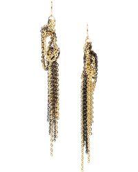Gemma Redux - Gold and Gunmetalplated Earrings - Lyst