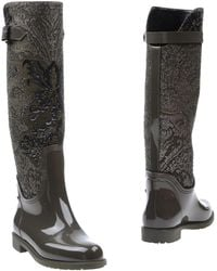 Rene Caovilla - Lame and Leather Knee-High Boots - Lyst