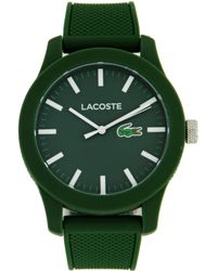 Lacoste - 2010763 .12.12 Green Resin Watch With Silicone Band - Lyst