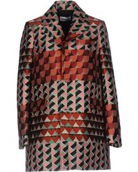 RED Valentino - Geometric Print Coat - Lyst
