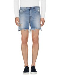 People - (+) People Denim Shorts - Lyst