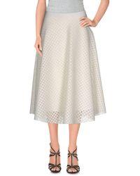 1d69e7ddd Bark 3/4 Length Skirt in White - Lyst