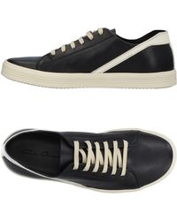 Rick Owens - Geoteraseer Leather Trainers Black - Lyst