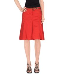 Henry Cotton's - Knee Length Skirt - Lyst