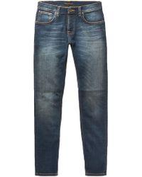 Nudie Jeans - Lean Dean Slim-fit Organic Stretch-denim Jeans - Lyst