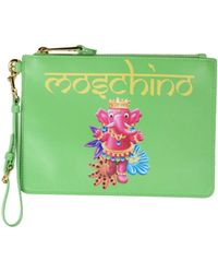Moschino - Crowned Elephant Print Clutch - Lyst
