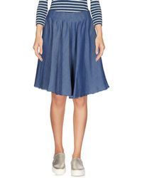 65f6cafdb Roberto Collina 3/4 Length Skirt in Natural - Lyst