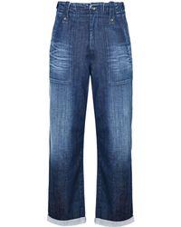 Jeans Jean Pantacourt Coloris En Lyst Bleu Armani IHpHq