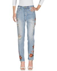 House of Holland - Denim Pants - Lyst