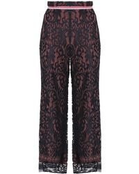 Peter Pilotto - Corded Lace Straight-leg Trousers - Lyst