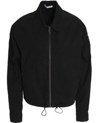 James Perse - Woman Stretch Cotton-shell Jacket Black - Lyst
