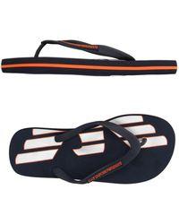 EA7 - Toe Strap Sandals - Lyst