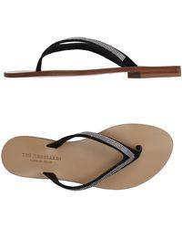 Tru Trussardi - Toe Strap Sandals - Lyst